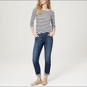 LOFT Relaxed Skinny Medium Wash Jeans 31/12